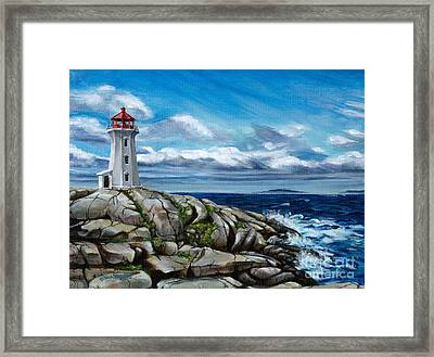 On The Rocks Peggy's Cove Framed Print