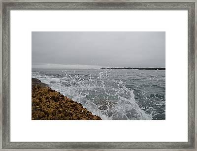 On The Rocks Framed Print by Sheldon Blackwell