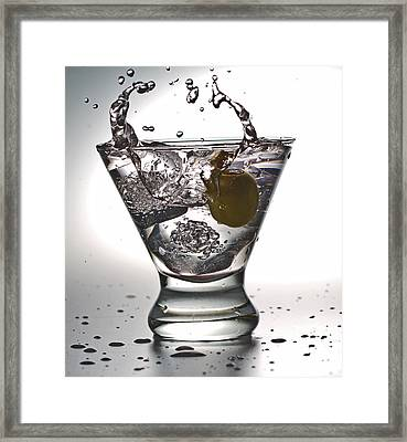 On The Rocks With Olive Splash Framed Print