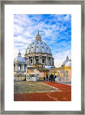 On The Roof Of St Peter's In Rome Framed Print