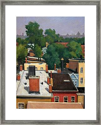 On The Roof Framed Print