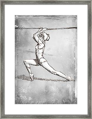 On The Rope Framed Print