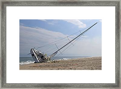On The Sand Framed Print by Alida Thorpe