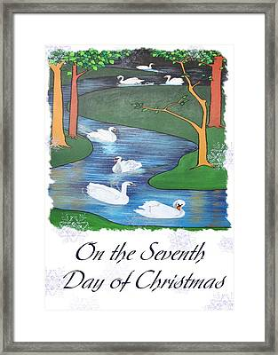 On The Seventh Day Of Christmas Framed Print