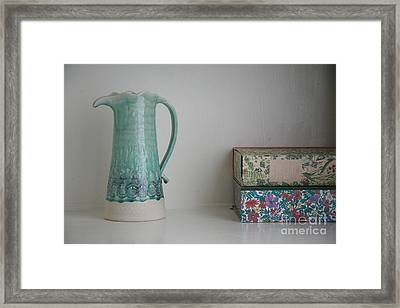 Framed Print featuring the photograph On The Shelf.... by Lynn England