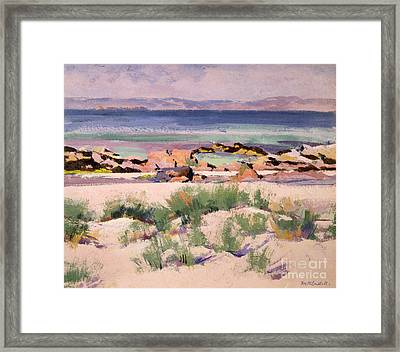 On The Shore  Iona  Framed Print