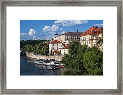On The Shore Of Vltava. Prague Framed Print