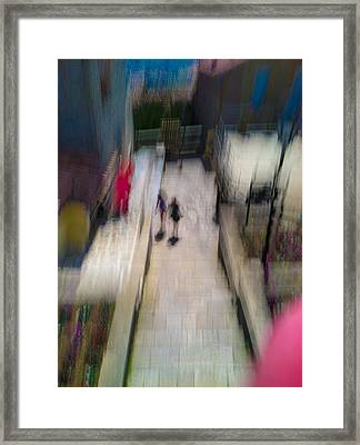 Framed Print featuring the photograph On The Stairs by Alex Lapidus