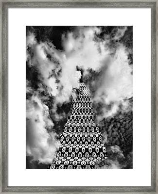 On The Riviera Stairway To Heaven Bw Palm Springs Framed Print by William Dey