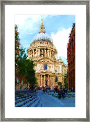On The Steps Of Saint Pauls Framed Print by Jenny Armitage