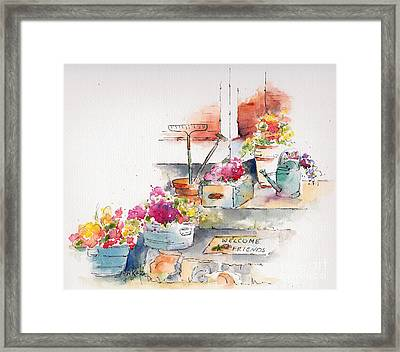 On The Stoop Framed Print by Pat Katz