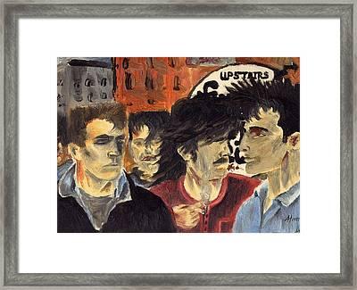 On The Street Framed Print by Alan Hogan