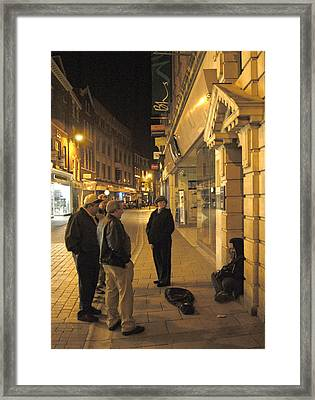 On The Street  Framed Print by Mike McGlothlen