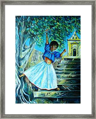 On The Streets Of Bucerias. Part One Framed Print