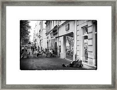 On The Streets Of Marseille Framed Print