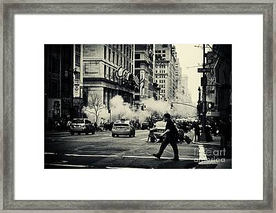 On The Streets Of New York 2 Framed Print
