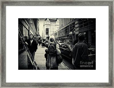 On The Streets Of New York Framed Print by Sabine Jacobs
