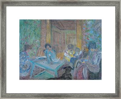 On The Terrace Framed Print by Karen Coggeshall