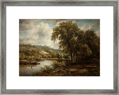 On The Thames Framed Print by George Frederick Watts