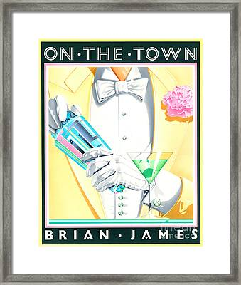 On The Town Framed Print by Brian James