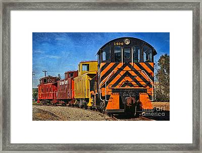 Framed Print featuring the photograph On The Tracks by Peggy Hughes