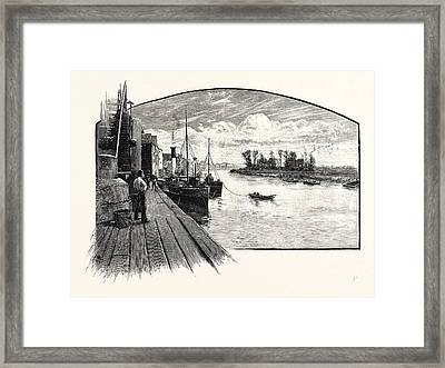 On The Trent At Gainsborough Framed Print by English School