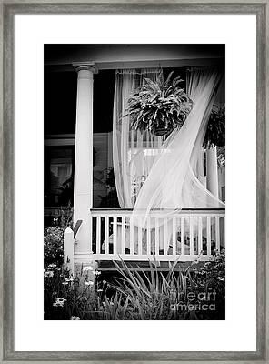 On The Veranda Framed Print by Colleen Kammerer