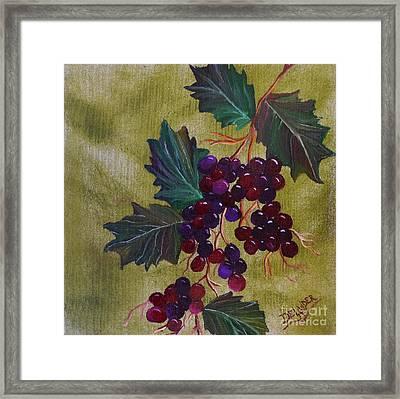 On The Vine 1 Framed Print