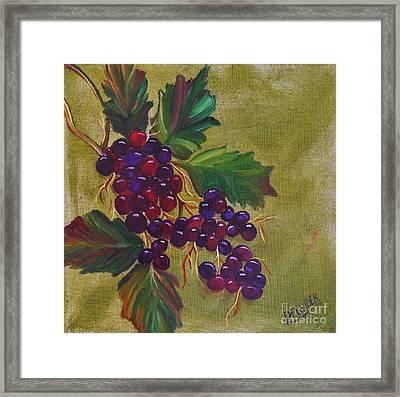 On The Vine 2 Framed Print