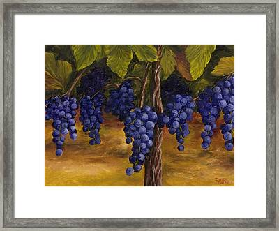Framed Print featuring the painting On The Vine by Darice Machel McGuire