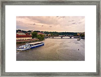 On The Vltava River - Prague Framed Print by Madeline Ellis