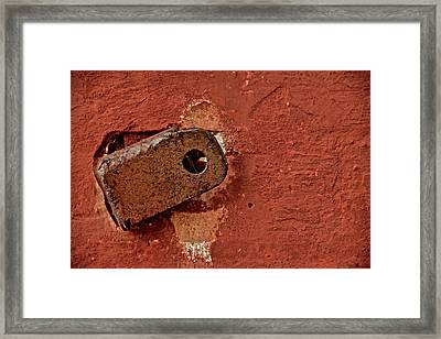 On The Wall Framed Print by Odd Jeppesen
