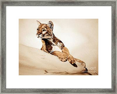 On The Watch Framed Print by Audrey Van Tassell