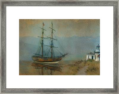 On The Water Framed Print by Jeff Burgess