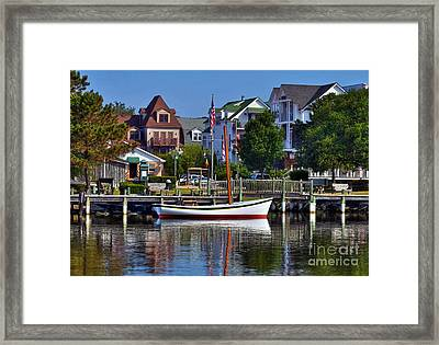 On The Waterfront Framed Print by Mel Steinhauer