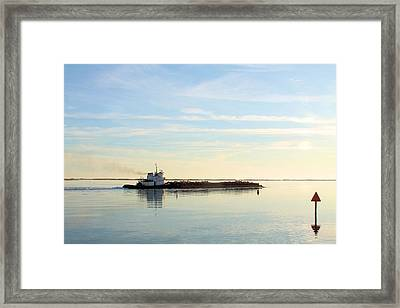 On The Waterway Framed Print