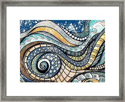 On The Wave - Sur La Vague Framed Print by Louise Lamirande