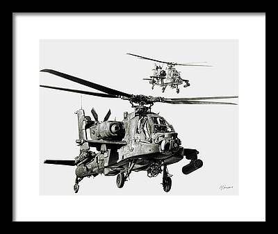 Attack Drawings Framed Prints