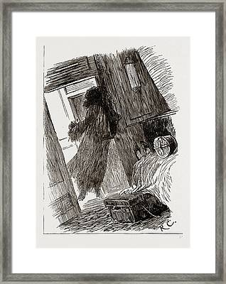 On The Way Out Effect Produced By A Rough Night On Garments Framed Print