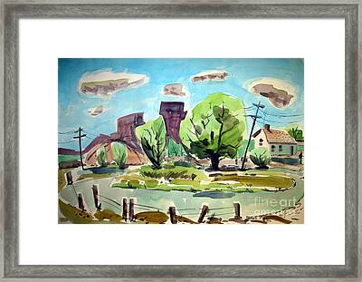On The Way Through Hermosillo Framed Print