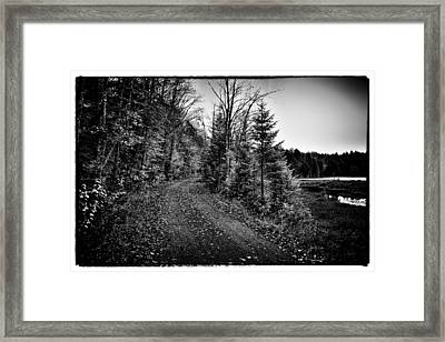 On The Way To Cary Lake Framed Print