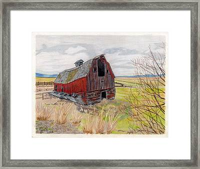 On The Way To Lakeview Framed Print