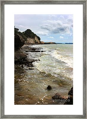 On The Way To Music Point Before Cyclone Lusi Framed Print