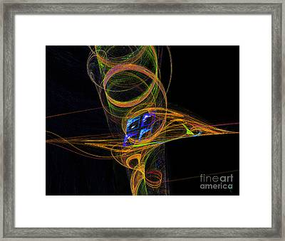 Framed Print featuring the digital art On The Way To Oz by Victoria Harrington