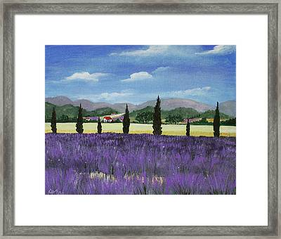 On The Way To Roussillon Framed Print by Anastasiya Malakhova