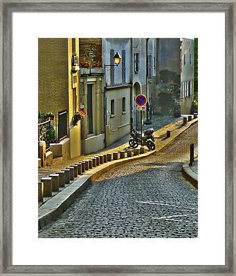On The Way To Sacre Coeur  Framed Print