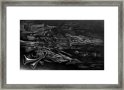 On The Way To Soaring Black And White Framed Print by Kyle Wood