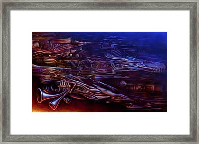 On The Way To Soaring Framed Print by Kyle Wood