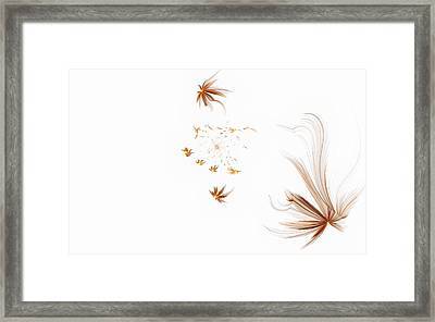Framed Print featuring the digital art On The Wind by GJ Blackman