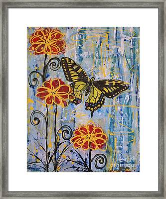 Framed Print featuring the painting On The Wings Of A Dream by Jane Chesnut